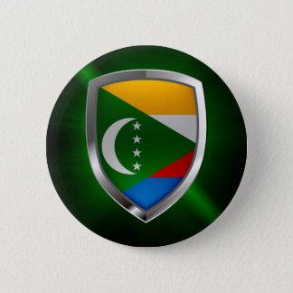 Comoros Mettalic Emblem 6 Cm Round Badge