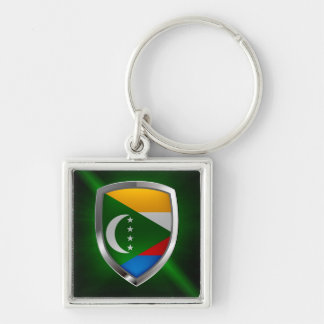 Comoros Mettalic Emblem Key Ring
