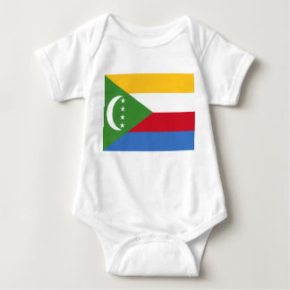 Comoros National World Flag Baby Bodysuit