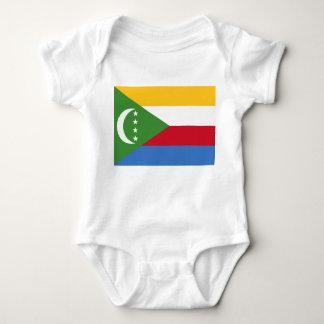Comoros National World Flag Baby Bodysuit