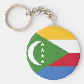 Comoros National World Flag Key Ring