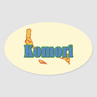 Comoros Oval Sticker