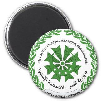 comoros seal 6 cm round magnet