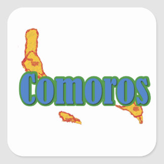 Comoros Square Sticker