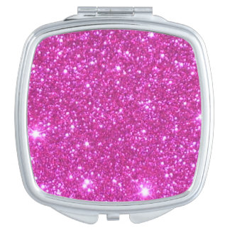 Compact Cosmetic Mirror Girlie Pink Sparkly Gift 2 Vanity Mirror