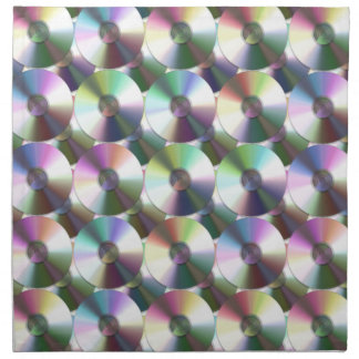 Compact Disc Rainbow Reflective Pattern Cloth Napkin