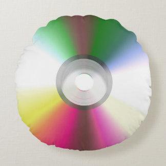 Compact Disk CD, DVD Round Cushion
