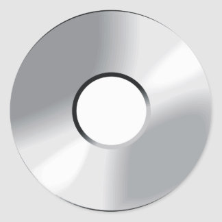 compact disk cd round sticker