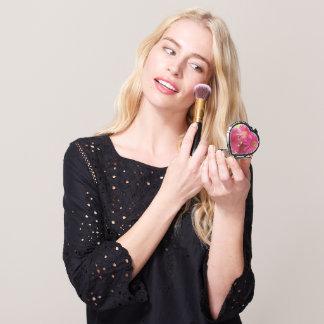 Compact - Heart - Dark Pink Gerbera Daisies Travel Mirror