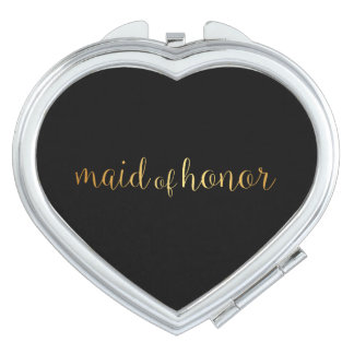 Compact Mirror - golden maid of honor