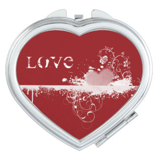 Compact Mirror-Valentine Heart Travel Mirror