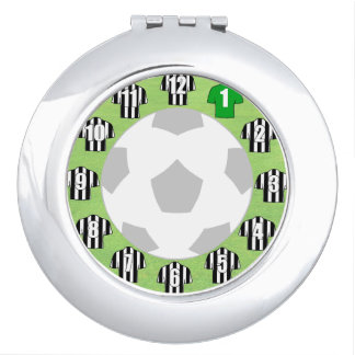 Compact Mirror with Black & White Sport Shirts