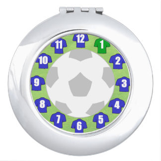 Compact Mirror with Blue Sport Shirts