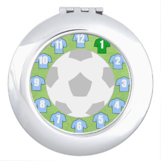 Compact Mirror with Light Sky Blue Sport Shirts