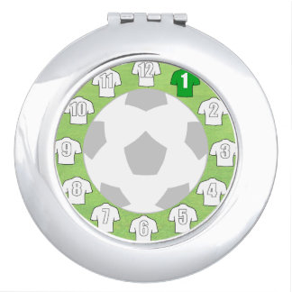 Compact Mirror with White Sport Shirts