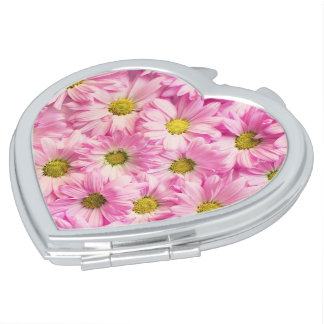 Compact - Pink Gerbera Daisies Travel Mirror