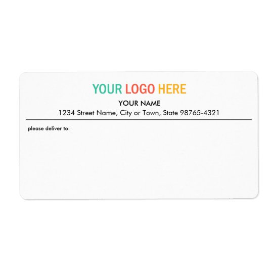 Company business logo package shipping address
