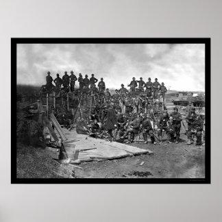Company C Troops at Bull Run 1862 Poster