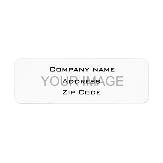 Company contact return address label