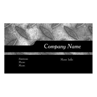 Company Elegant Silver Black Metal look Business Card Templates