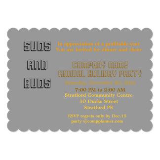 Company holiday party Invitation. 13 Cm X 18 Cm Invitation Card