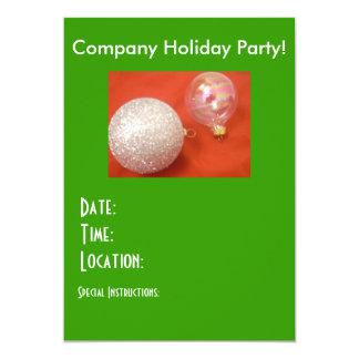 """Company Holiday Party! Invitations! 5"""" X 7"""" Invitation Card"""