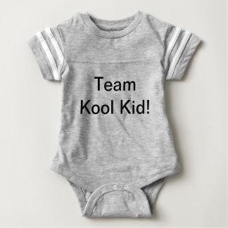 Company logo and brand baby bodysuit