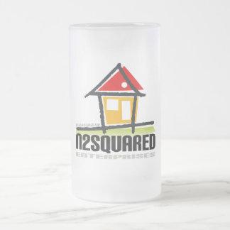 Company Logo Frosted Glass Mug