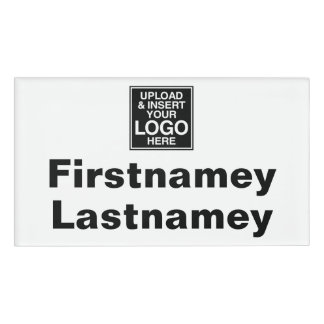 Company Logo with area for First and Last Names Name Tag
