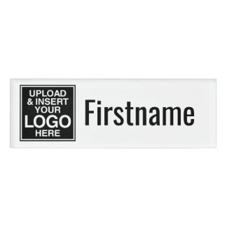 Company Logo with area for First Name only Name Tag