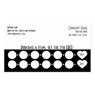 Company Loyalty Business Card Punch Card