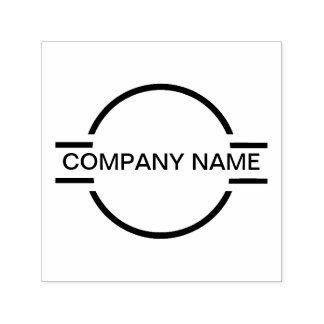 Company Monogram Logo Emblem Self-inking Stamp
