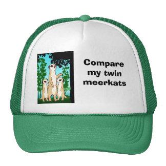 Compare my twin Meerkats Cap