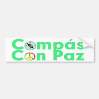 Compás Con Paz Bumper Stickers