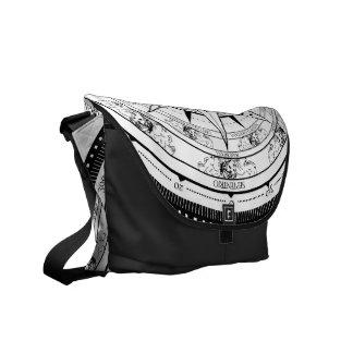 Compase Rose - Messenger Bag (White & Black)