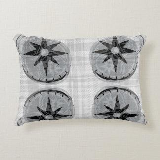 Compass Accent Pillow - Black/White