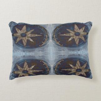 Compass Accent Pillow - Blue