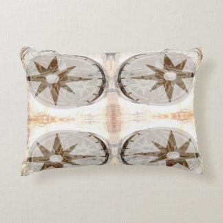 Compass Accent Pillow - Tan
