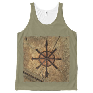 compass All-Over print tank top