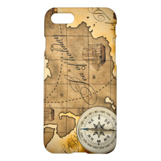 Compass and Map iPhone 7 Matte Finish Case