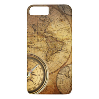 Compass and Map iPhone 7 Plus, Barely There iPhone 7 Plus Case