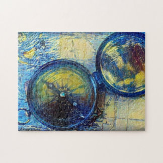 Compass and Map Jigsaw Puzzle