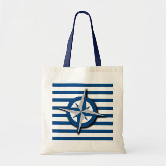 Compass and Stripes Nautical Inspired