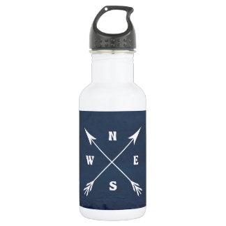 Compass arrows 532 ml water bottle