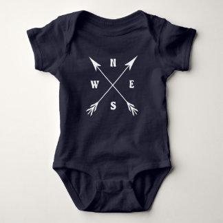 Compass arrows baby bodysuit