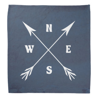 Compass arrows bandana