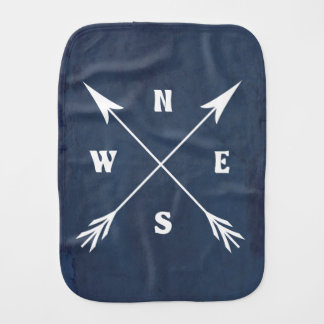 Compass arrows burp cloth