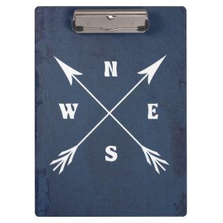 Compass arrows clipboard