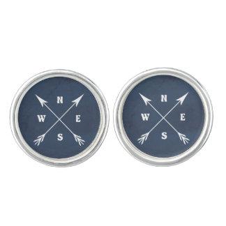 Compass arrows cuff links