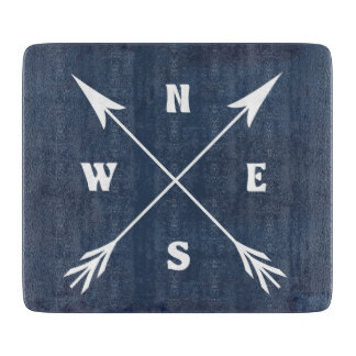 Compass arrows cutting board